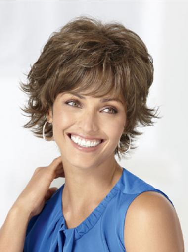 Brown Layered Wavy Trendy Classic Wigs