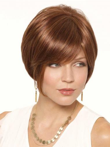 Bobs Auburn Straight Designed Short Wigs