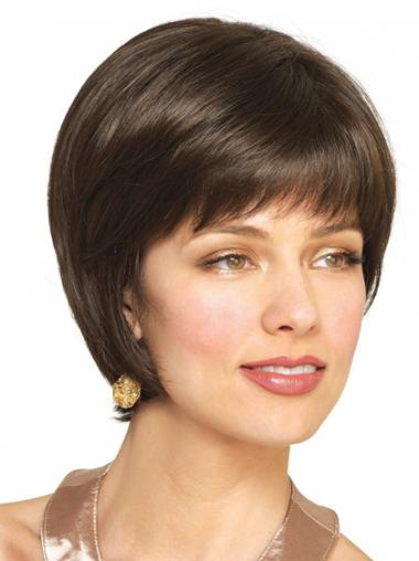 Bobs Straight Brown Fabulous Short Wigs