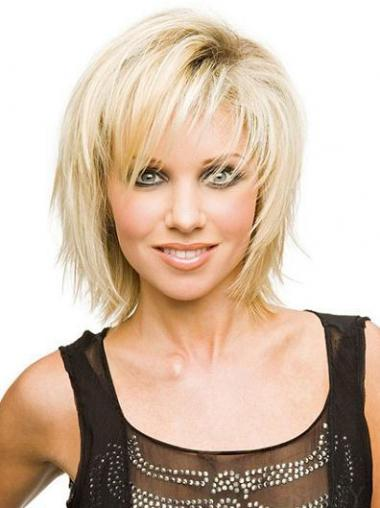 Blonde Layered Straight Sassy Short Wigs