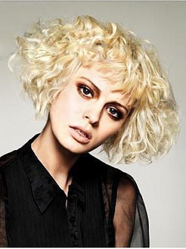 Blonde Layered Wavy Sassy Short Wigs