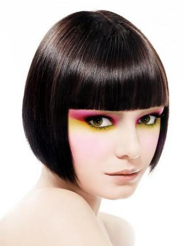 Black Straight Cheapest Bob Wigs
