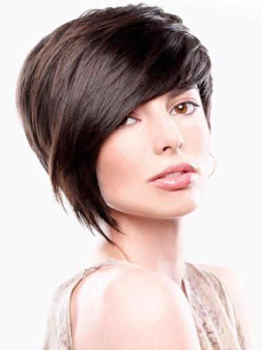 Bobs Straight Brown Good Short Wigs