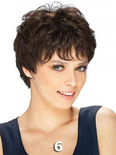 Brown Remy Human Hair High Quality Short Wigs