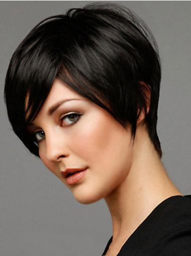 Straight Boycuts Black Best Short Wigs