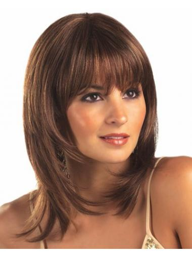 Brown Lace Front Synthetic Fabulous Medium Wigs