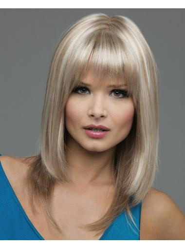 Straight Blonde Lace Front Gorgeous Medium Wigs