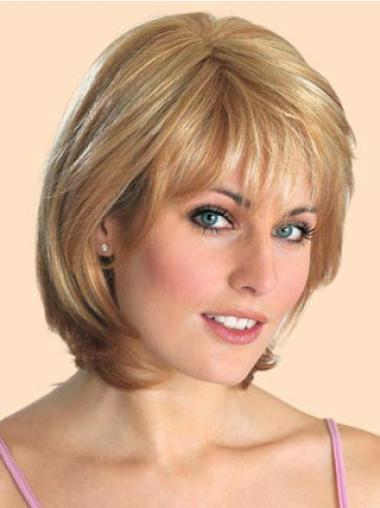 Blonde Bobs Straight Sassy Medium Wigs