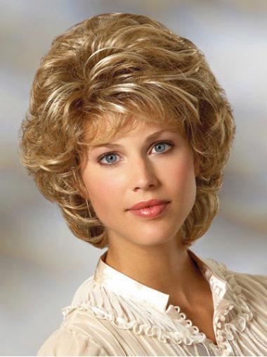Blonde Classic Curly Convenient Classic Wigs