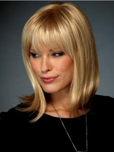 Synthetic Blonde Straight Discount Medium Wigs