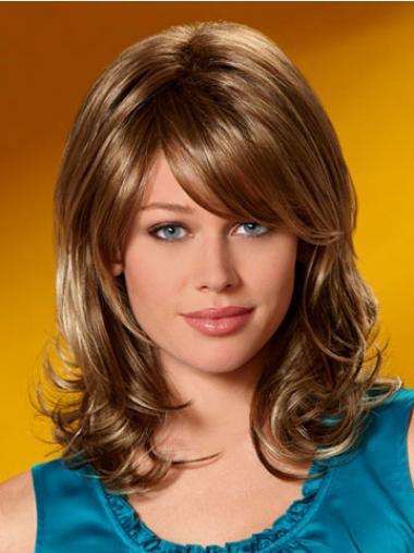 Auburn Layered Wavy Flexibility Medium Wigs