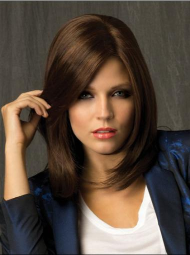 Straight Brown Lace Front Amazing Medium Wigs