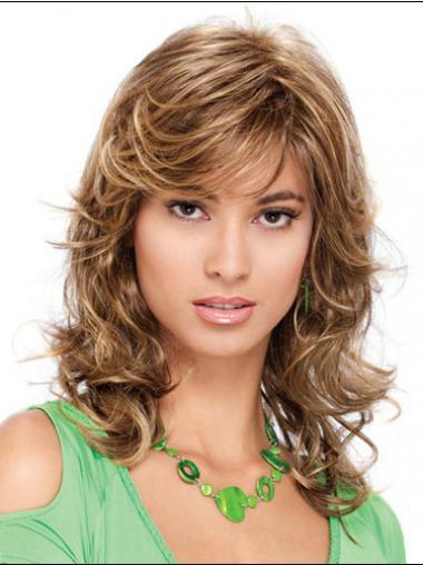 Blonde Classic Curly Natural Medium Wigs