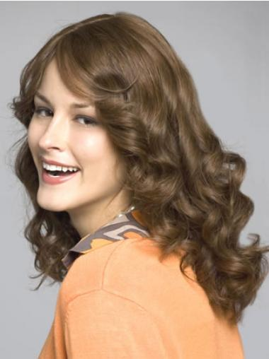 Remy Human Hair Brown Fashionable Long Wigs