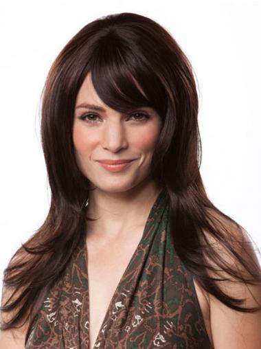With Bangs Auburn Straight Discount Long Wigs