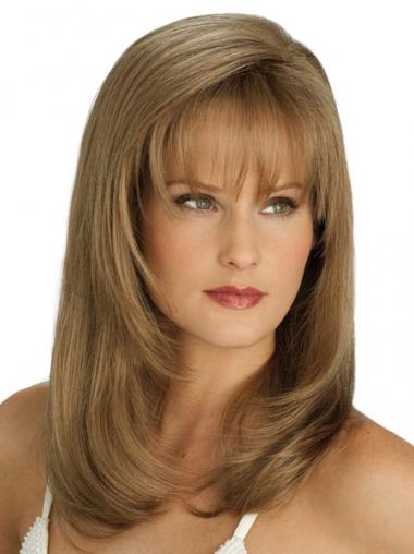 Natural Blonde Straight Long Wigs