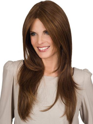 Brown Synthetic Straight Cheapest Long Wigs