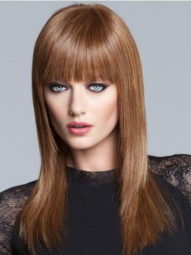 Straight Brown Lace Front Gorgeous Long Wigs