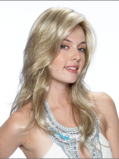 Wavy Blonde Layered Affordable Long Wigs