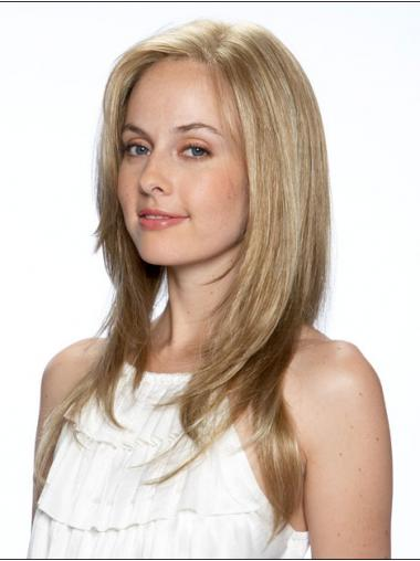 Straight Blonde High Quality Long Wigs