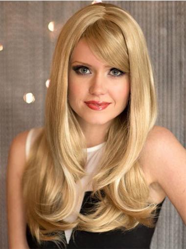 Blonde Synthetic Wavy Flexibility Long Wigs