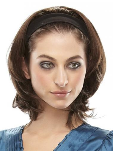 Brown Straight Hairstyles Medium Wigs