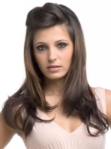 Brown Wavy High Quality Wigs/Human Hair Wigs & Half Wigs