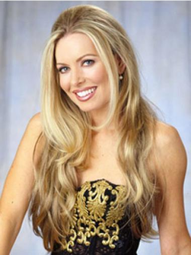 Wavy Blonde Cheap Celebrity Wigs