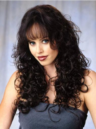Brown Curly Great Wigs/Human Hair Wigs & Half Wigs