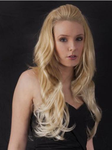 Wavy Blonde Beautiful Wigs/Human Hair Wigs & Half Wigs