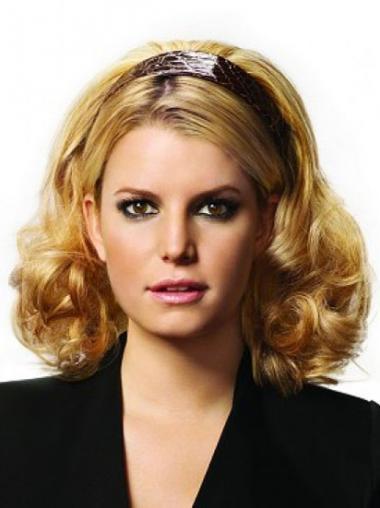 No-fuss Blonde Curly Wigs/Human Hair Wigs & Half Wigs