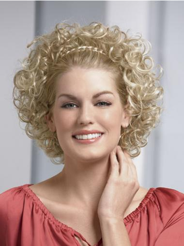 Blonde Curly No-fuss Wigs/Human Hair Wigs & Half Wigs
