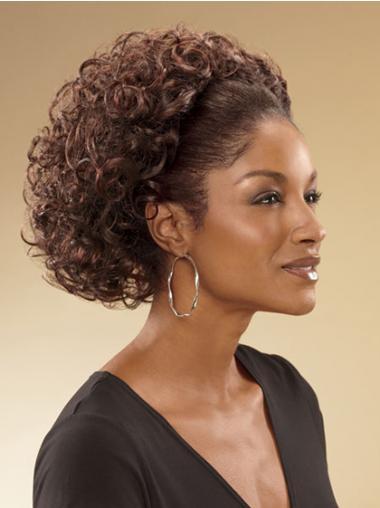 Brown Curly Beautiful Wigs/Human Hair Wigs & Half Wigs