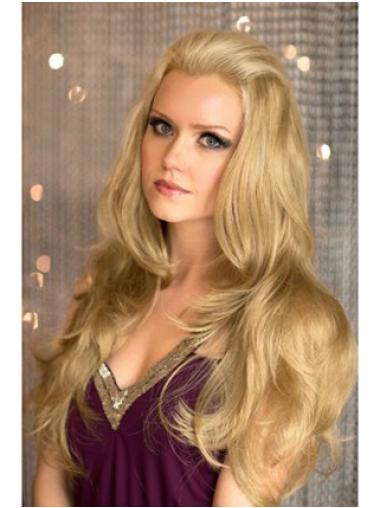 Wavy Blonde Durable Wigs/Human Hair Wigs & Half Wigs
