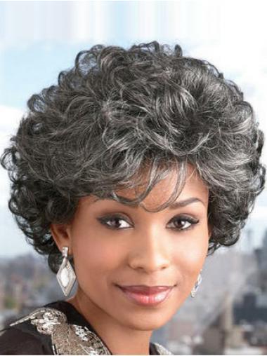 Short Curly Modern Grey Wigs