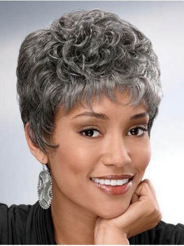 Short Curly Hairstyles Grey Wigs
