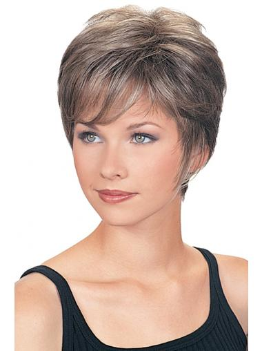 Cropped Wavy Stylish Grey Wigs