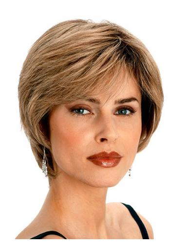 Blonde Remy Human Hair Fashion Short Wigs