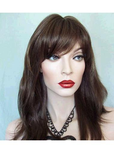 Straight Brown Lace Front Natural Long Wigs