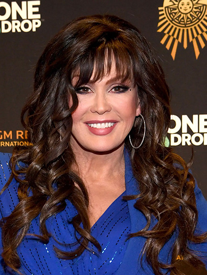 Brown Long Curly With Bangs Remy Human Hair 20 New Marie Osmond Wigs