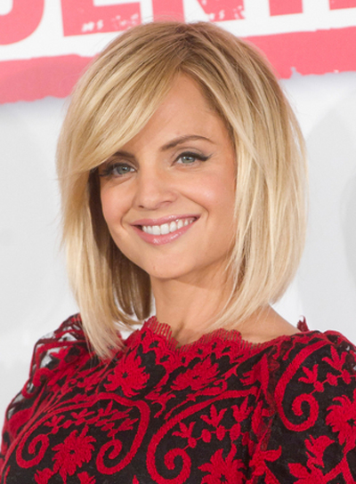 Straight Blonde Bobs Fashion Mena Suvari wigs