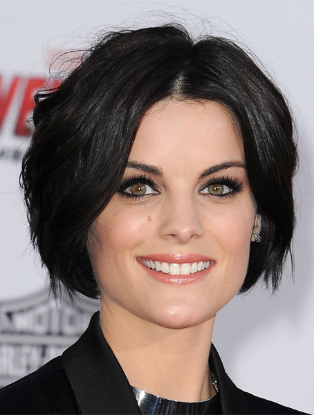 Black Layered Straight Online Celebrity Wigs