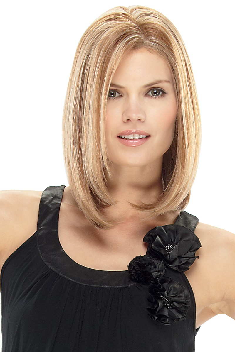 Blonde Straight Natural Medium Wigs