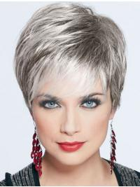 Straight Exquisite Grey Wigs 4431b944045a