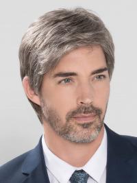 100% Hand-tied Grey Short Grey Wigs For Men 0af909b6b50d